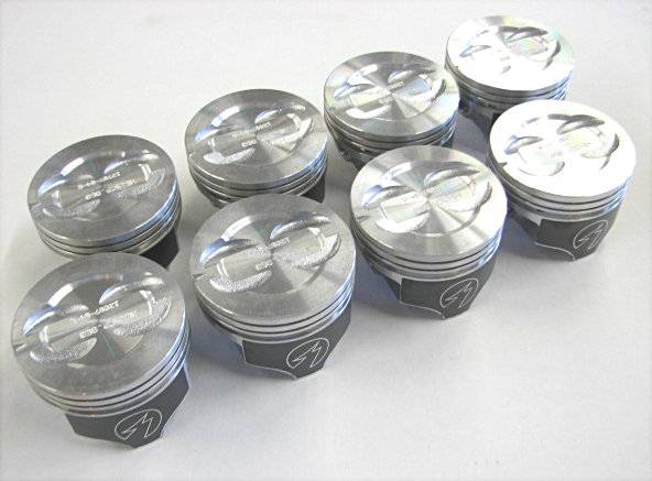 SPEED PRO H400CP20 Pistons 8-PACK Hypereutectic Flat Chevy 400 w 5.565 Rod