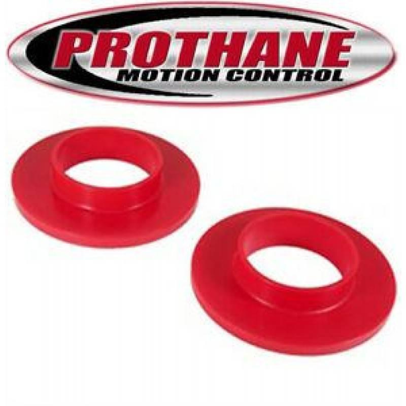 Prothane 1-1704 Red Front Upper Coil Spring Isolator Kit