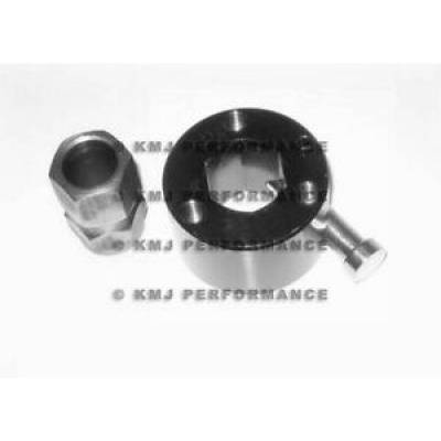 Assault Racing Products - Black Billet Aluminum Push Button Quick Release Steering Wheel Hub IMCA NHRA
