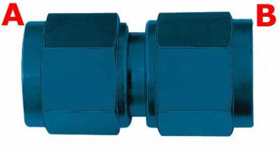 Aeroquip Performance Products - Aeroquip FCM2914 Female Flare Swivel Fitting -4 AN x-4 AN Blue Anodized Aluminum