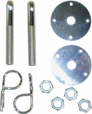 Precision Racing Components - Steel Hood Pin Kit - Hair Pin Style