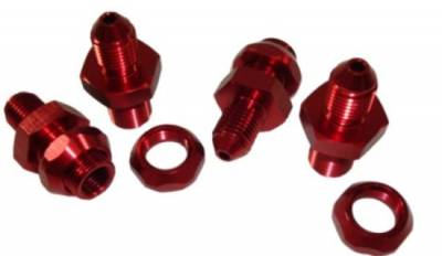 """Precision Racing Components - -3AN x 1/8"""" NPT Bulkhead Brake Line Fitting-Sold Individually"""
