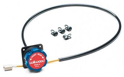 Wilwood - Wilwood 340-4990 Blue/Black Remote Balance Bar Brake Bias Adjuster 5 Foot Cable