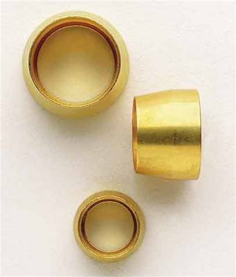 Aeroquip Performance Products - Aeroquip FCM3721 -4 AN Brass Replacement Teflon Sleeve (5 Per Pkg)