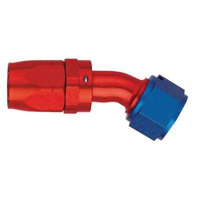 Aeroquip Performance Products - Aeroquip FCM4075 -12 AN 30 Degree Reuseable Swivel Hose End Fitting Red/Blue Anodized Aluminium