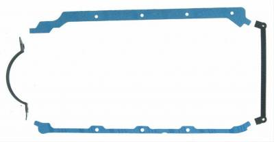 Fel-Pro Gaskets - Fel-Pro 1816 BBC Rubber-Coated Fiber Oil Pan Gasket 2-Piece Rear Main