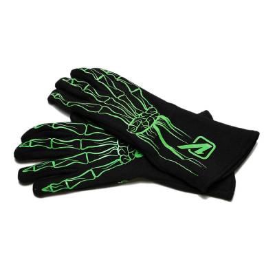 Velocita - FLO GREEN Velocita Skeleton 2 Layer Racing Gloves