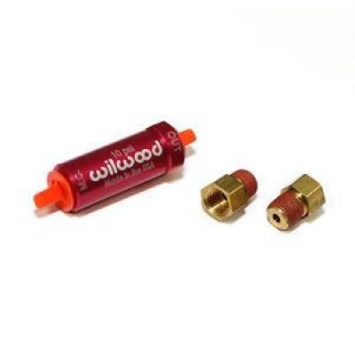 Wilwood - Wilwood 260-13784 Red Aluminum Residual Brake Pressure Valve 10 PSI w/ Fittings
