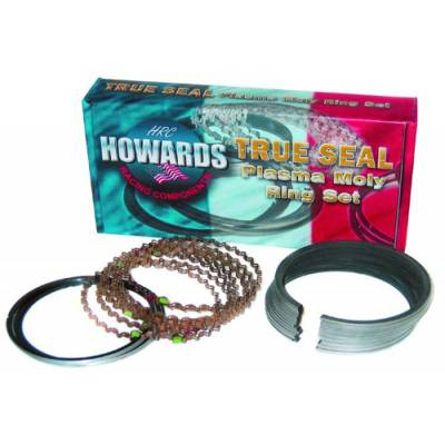 """Howards Cams - Howards Cams SBC Chevy Piston Rings Plasma Moly 1/16 1/16 3/16 4.160"""" File Fit"""