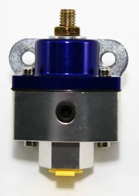 "Assault Racing Products - 5-12 PSI Adjustable Fuel Pressure Regulator Blue Anodized Aluminum 3/8"" NPT Port"