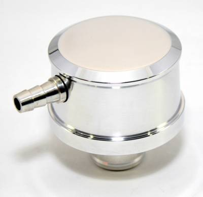 Assault Racing Products - Chevy Ford Mopar Push In Polished Aluminum Breather W/ PCV Valve Smooth Top