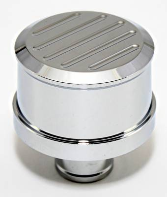 Assault Racing Products - Bill Mill Top Chrome Aluminum Push In Valve Cover Breather - Washable Filter