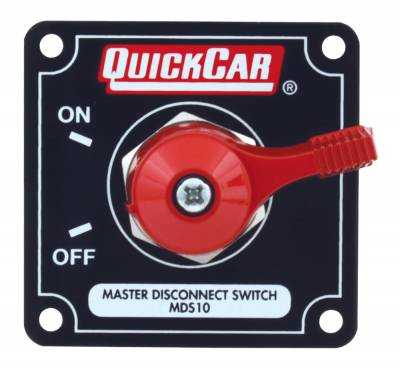 Quick Car - QuickCar 55-009 Red Complete Master Disconnect Emergency Cut Off Switch 2 Post