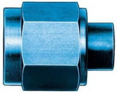 Aluminum AN Fittings - Cap and Plug Kits - Aeroquip Performance Products - Aeroquip FCM3751 -3 AN Flare Fitting Cap Blue Anodized Aluminum