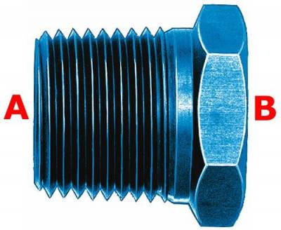 "Aeroquip Performance Products - Aeroquip FCM2140 Pipe Bushing 1/2"" x 1/4"" Pipe Thread Blue Anodized Aluminuim"