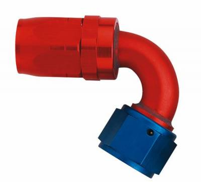 Aluminum Reusable Fittings  - 120 Degree Reusable Fittings - Aeroquip Performance Products - Aeroquip FCM4043 120 deg. Elbow Hose End (-8 Size)
