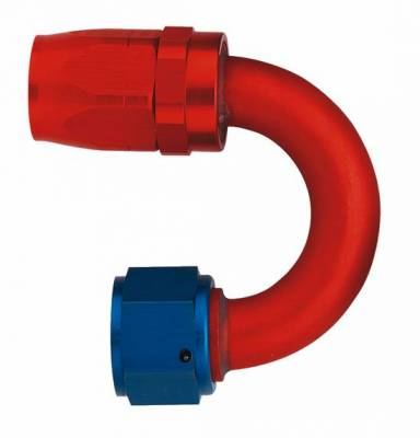 Aluminum Reusable Fittings  - 180 Degree Reusable Fittings - Aeroquip Performance Products - Aeroquip FCM4064 180 deg. Elbow Hose End (-10 Size)