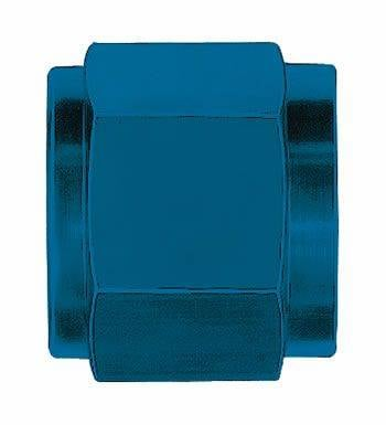 Aluminum AN Fittings - Tube Nuts - Aeroquip Performance Products - Aeroquip FCM3554 -3 AN Tube Nut (6 Per Pkg) Blue Anodized Aluminum