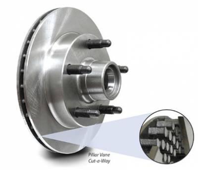 "Brakes - Brake Rotors & Drums - AFCO - AFCO Pillar Vane Flat Hybrid Rotors - 10.13"" Diameter"