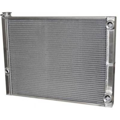 "Cooling - Radiators - AFCO - AFCO  80185NDP-16 19X27.5 1 Row Double Pass Radiator 1.5"" Tube -16 Inlet"