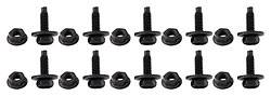 "Body Components - Body Fasteners, Brackets & Braces - AllStar Performance - Allstar 18553 Body Bolt Kit; 3/4"" UHL; Black; 10-Pack"