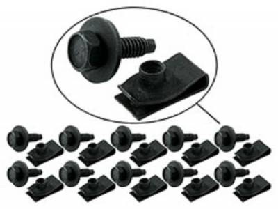 """Body Components - Body Fasteners, Brackets & Braces - AllStar Performance - 1/4""""-20 Body Bolt Kits With Clips-10 Pack"""