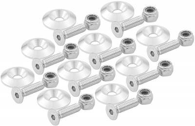 Body Components - Body Fasteners, Brackets & Braces - AllStar Performance - Countersunk Bolt Kit - Clear 10 Pack