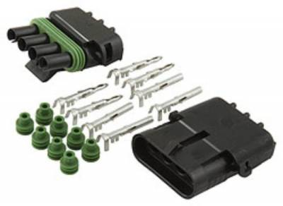 Ignition & Electrical - Wire Loom & Routing Kits - AllStar Performance - Weather Pack Connection Kit 4-Wire