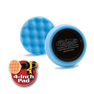"Adams Premium Car Care - 4"" Blue Foam Polishing Pad For Metal-Sold Singularly"
