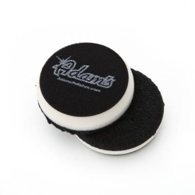 "Adams Premium Car Care - 4"" White Microfiber Finishing Pad-Sold Singularly"