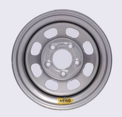 "Circle Track - 15 x 7 Wheels - Aero Race Wheels - Aero Wheels 50-074735 Silver 15"" x 7"" - 5 x 4.75"" Pattern - 3.5"" Back Spacing"