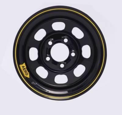 "Garage Sale - Aero Race Wheels - Aero Wheels 50-174540 Black 15"" x 7"" - 5 x 4.5"" Pattern - 4"" Back Spacing"