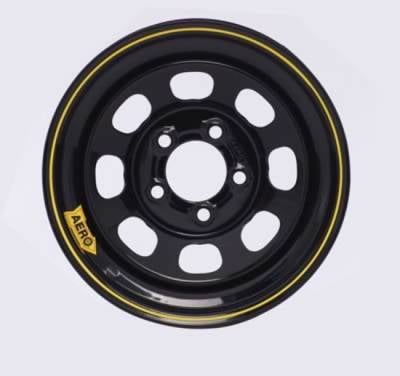 "Circle Track - 15 x 7 Wheels - Aero Race Wheels - Aero Wheels 50-175040 Black 15"" x 7"" - 5 x 5"" Pattern - 4"" Back Spacing"