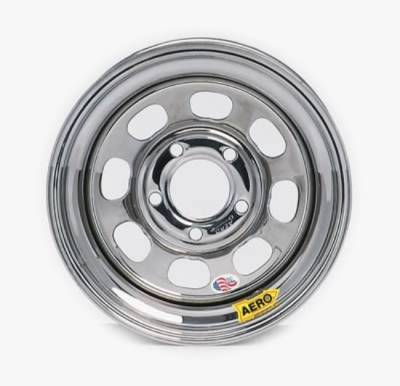 "Circle Track - 15 x 7 Wheels - Aero Race Wheels - Aero Wheels 50-275040 Chrome 15"" x 7"" - 5 x 5"" Pattern - 4"" Back Spacing"