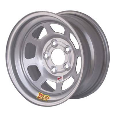 "Circle Track - 15 x 8 - Aero Race Wheels - Aero Wheels 52-085020 Silver 15"" x 8"" - 5 x 5"" Pattern - 2"" Back Spacing"