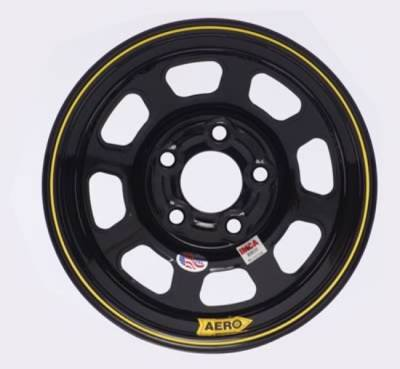 "Circle Track - 15 x 8 - Aero Race Wheels - Aero Wheels 52-184530 Black 15"" x 8"" - 5 x 4.5"" Pattern - 3"" Back Spacing"