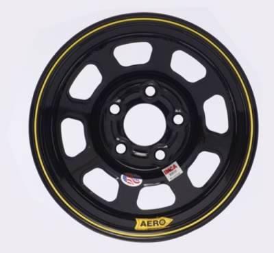 "Circle Track - 15 x 8 - Aero Race Wheels - Aero Wheels 52-185030 Black 15"" x 8"" - 5 x 5"" Pattern - 3"" Back Spacing"