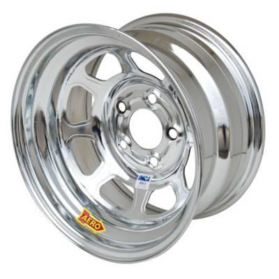 "Circle Track - 15 x 8 - Aero Race Wheels - Aero Wheels 52-285030 Chrome 15"" x 8"" - 5 x 5"" Pattern - 3"" Back Spacing"