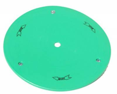 "Circle Track - Wheel Covers & Rings - Aero Race Wheels - 15"" Green Plastic Mud Cover"