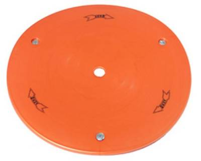 "Circle Track - Wheel Covers & Rings - Aero Race Wheels - 15"" Orange Plastic Mud Cover"