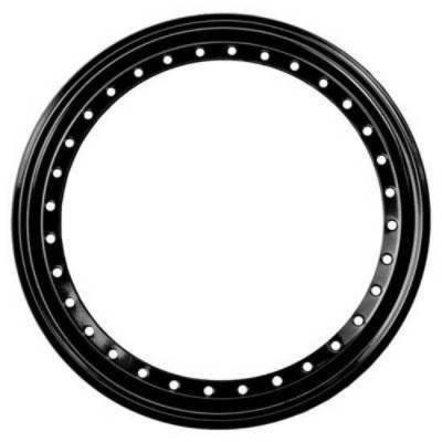 Circle Track - Wheel Covers & Rings - Aero Race Wheels - Black Beadlock Ring