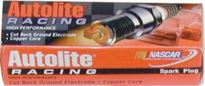 "Spark Plugs and Spark Plug Wires - Spark Plugs - Autolite - Autolite Racing Spark Plugs -14mm Gasket Seat 3/4"" Reach 5/8"" Hex -Projected Tip-Hot Heat Range"