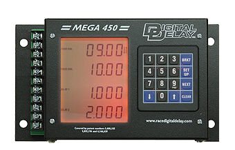 Drag Racing - Delay Boxes - Digital Delay - Digital Delay Mega 450 V3 Delay Box with Red Backlight