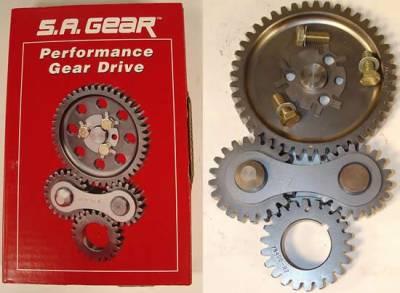Valvetrain & Camshaft Components - Timing Chain Sets - SA Gear - Dynagear - 'S.A. Gear Dual Idler Gear Drive - ''55 & Up SBC'