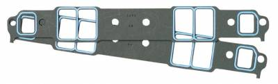 Engine Gaskets - Intake Gaskets - Fel-Pro Gaskets - FEL-Pro Intake Gaskets BBC rectangle port without upper intake bolts 1/16 thick