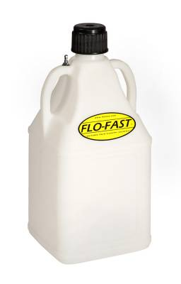 Tools, Shop & Pit Equipment - Utility Containers & Funnels - Flo-Fast - 7.5 Gallon Flo-Fast Fuel Jug - Clear