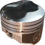"Pistons & Rings - Pistons - Federal Mogul - 383 4.00"" Bore-.110"" Dish 5.7"" Rod-3.750"" Stroke-Comp Ratio 64cc-9.55/76cc 8.55"