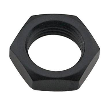 Aluminum AN Fittings - Bulkhead Nuts - Fragola - Black-4 AN Bulkhead Nut