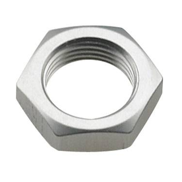 Aluminum AN Fittings - Bulkhead Nuts - Fragola - Clear -4 AN Bulkhead Nut