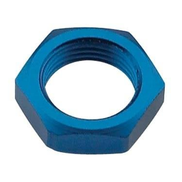 Aluminum AN Fittings - Bulkhead Nuts - Fragola - Blue -6 AN Bulkhead Nut